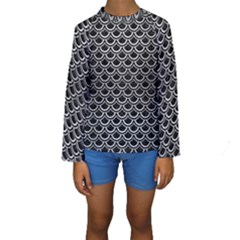 SCA2 BK MARBLE SILVER Kid s Long Sleeve Swimwear