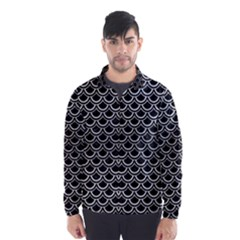 SCA2 BK MARBLE SILVER Wind Breaker (Men)