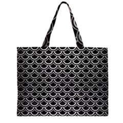 SCA2 BK MARBLE SILVER Large Tote Bag