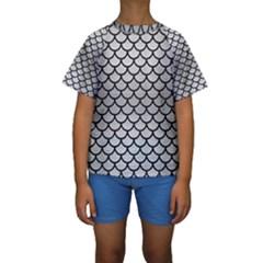 SCA1 BK MARBLE SILVER (R) Kid s Short Sleeve Swimwear