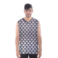 Scales1 Black Marble & Silver Brushed Metal (r) Men s Basketball Tank Top