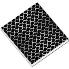 Scales1 Black Marble & Silver Brushed Metal Small Memo Pads