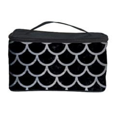 Scales1 Black Marble & Silver Brushed Metal Cosmetic Storage Case