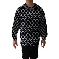 SCA1 BK MARBLE SILVER Hooded Wind Breaker (Kids)