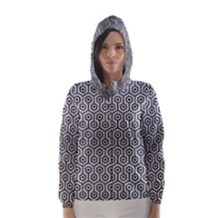 HXG1 BK MARBLE SILVER (R) Hooded Wind Breaker (Women)