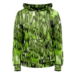 Funky Chevron Green Women s Pullover Hoodie