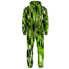 Funky Chevron Green Hooded Jumpsuit (men)