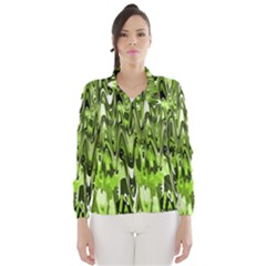 Funky Chevron Green Wind Breaker (women)