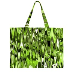Funky Chevron Green Large Tote Bag