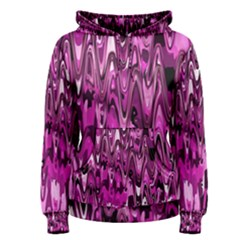 Funky Chevron Hot Pink Women s Pullover Hoodie