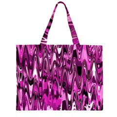 Funky Chevron Hot Pink Large Tote Bag