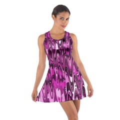 Funky Chevron Hot Pink Racerback Dresses