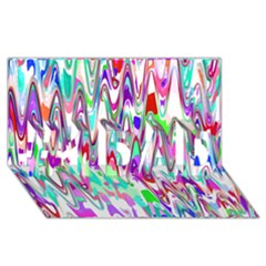 Funky Chevron Multicolor #1 Dad 3d Greeting Card (8x4)