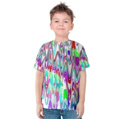 Funky Chevron Multicolor Kid s Cotton Tee