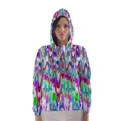 Funky Chevron Multicolor Hooded Wind Breaker (women)