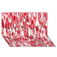 Funky Chevron Red Best Bro 3d Greeting Card (8x4)