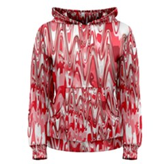 Funky Chevron Red Women s Pullover Hoodie