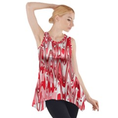 Funky Chevron Red Side Drop Tank Tunic