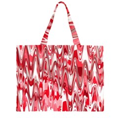 Funky Chevron Red Large Tote Bag