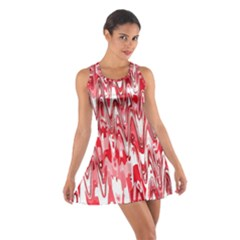 Funky Chevron Red Racerback Dresses