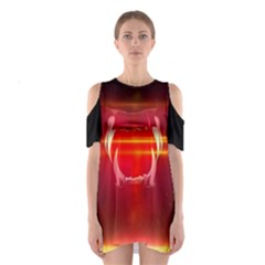 Famous last words - Du kommst auf den Grill Cutout Shoulder Dress