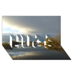 View   On The Lake Hugs 3d Greeting Card (8x4)