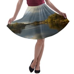 View   On The Lake A-line Skater Skirt
