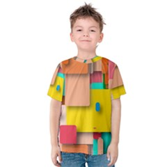 Rounded Rectangles Kid s Cotton Tee