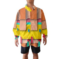 Rounded Rectangles Wind Breaker (Kids)