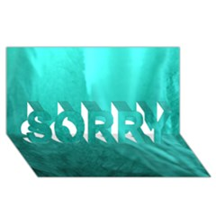 Floating Sorry 3d Greeting Card (8x4)