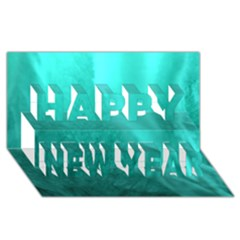 Floating Happy New Year 3d Greeting Card (8x4)