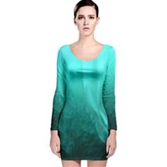 Floating Long Sleeve Velvet Bodycon Dress