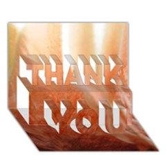 Floating Peach Thank You 3d Greeting Card (7x5)