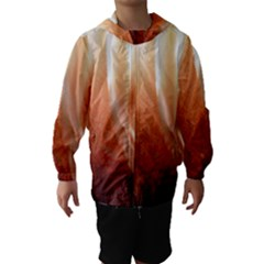 Floating Peach Hooded Wind Breaker (Kids)