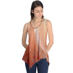 Floating Peach Sleeveless Tunic