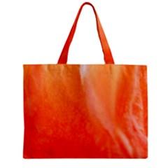 Floating Orange Zipper Mini Tote Bag