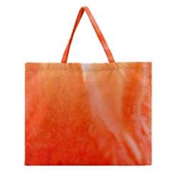 Floating Orange Zipper Large Tote Bag
