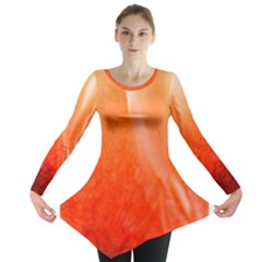 Floating Orange Long Sleeve Tunic