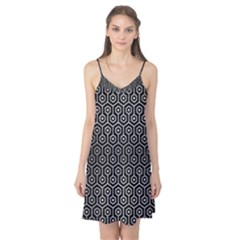 Hexagon1 Black Marble & Silver Brushed Metal Camis Nightgown