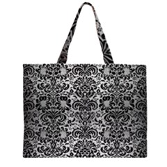 DMS2 BK MARBLE SILVER (R) Large Tote Bag