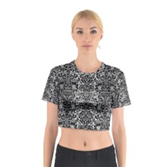 DMS2 BK MARBLE SILVER (R) Cotton Crop Top