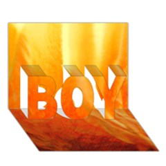 Floating Orange And Yellow Boy 3d Greeting Card (7x5)