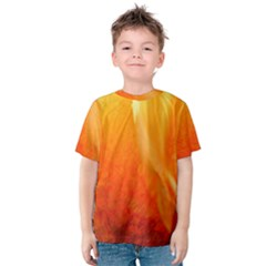 Floating Orange and Yellow Kid s Cotton Tee