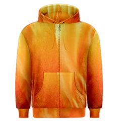Floating Orange And Yellow Men s Zipper Hoodie