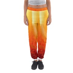 Floating Orange And Yellow Women s Jogger Sweatpants