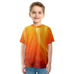 Floating Orange and Yellow Kid s Sport Mesh Tee