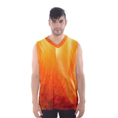 Floating Orange And Yellow Men s Basketball Tank Top
