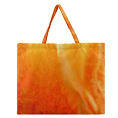 Floating Orange and Yellow Zipper Large Tote Bag