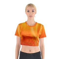 Floating Orange and Yellow Cotton Crop Top
