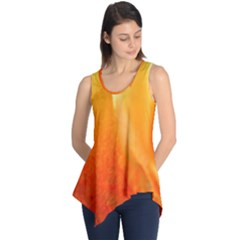 Floating Orange and Yellow Sleeveless Tunic
